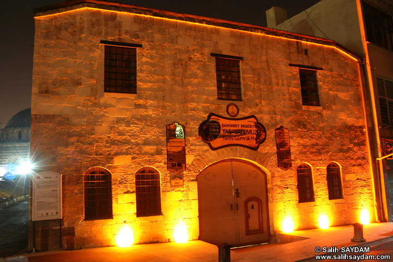 Historical Custom Caravanserai (Tarihi Gümrük Hanı) Photo Gallery (At Night) (Gaziantep)