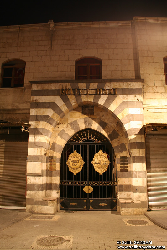 Millet Caravanserai (Millet Hanı) Photo Gallery (At Night) (Gaziantep)