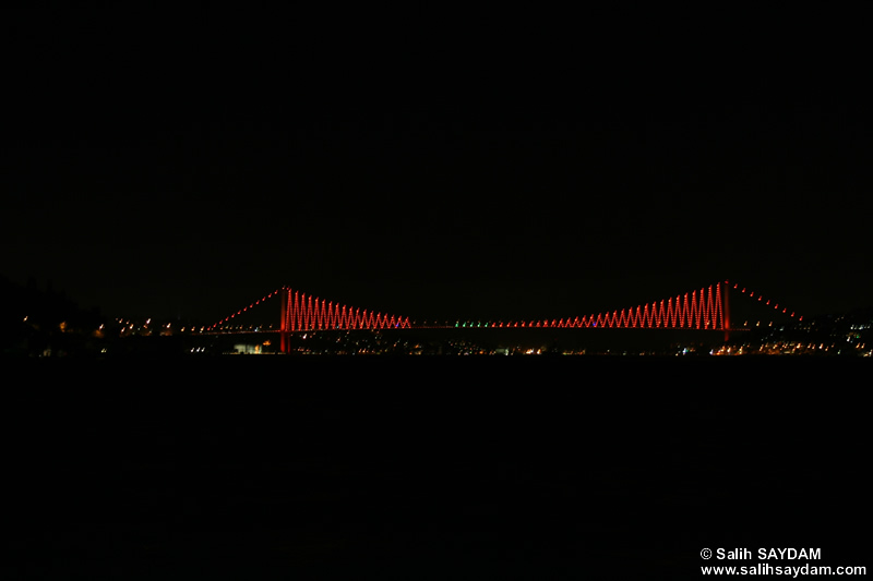 Bosphorus Bridge Photo Gallery 3 (Night) (Istanbul)