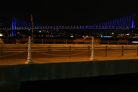 Bosphorus Bridge Photo Gallery 1 (From Ortakoy, At Night) (Istanbul)