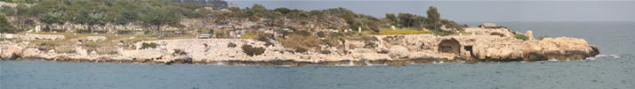 Panorama of Sightings from Outer Castle (Korykos, Maiden's Castle) 1 (Mersin, Erdemli, Kizkalesi)