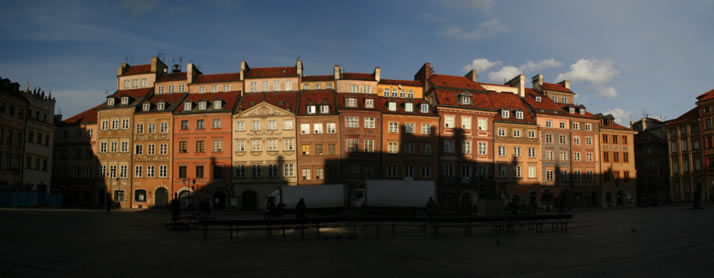 Panorama of Old Town Market Place 2 (Old Town, Warsaw, Poland)