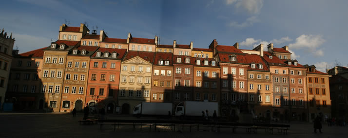 Panorama of Old Town Market Place 5 (Old Town, Warsaw, Poland)