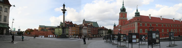 Panorama of Castle Square 1 (Old Town, Warsaw, Poland)