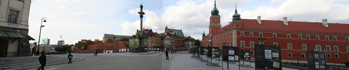 Panorama of Castle Square 2 (Old Town, Warsaw, Poland)