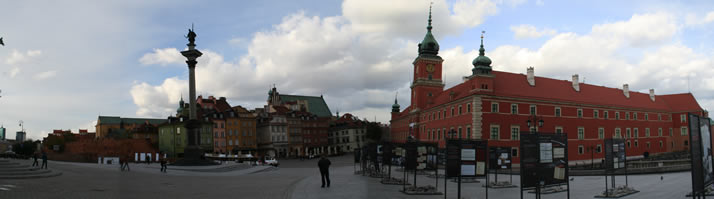 Panorama of Castle Square 3 (Old Town, Warsaw, Poland)