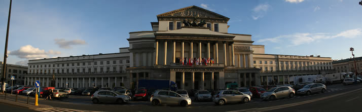 Panorama of Grand Theatre - National Opera (Teatr Wielki-Opera Narodowa) 1 (Warsaw, Poland)