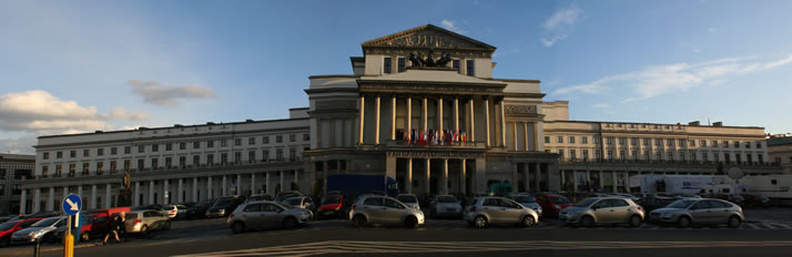 Panorama of Grand Theatre - National Opera (Teatr Wielki-Opera Narodowa) 2 (Warsaw, Poland)