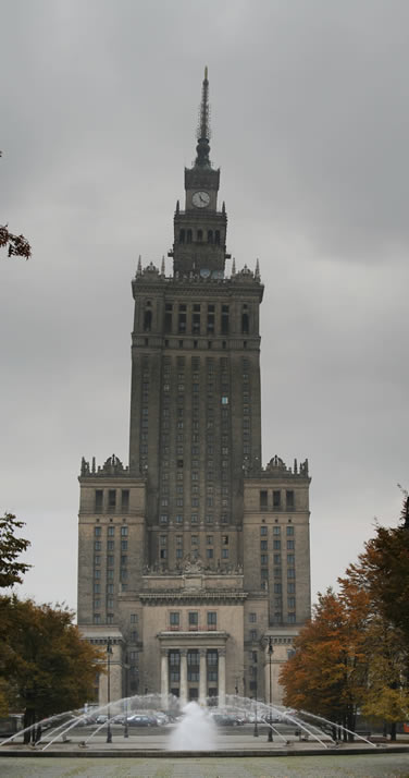 Vertical Panorama of Palace of Culture and Science (Palac Kultury i Nauki, PKiN) (Warsaw, Poland)