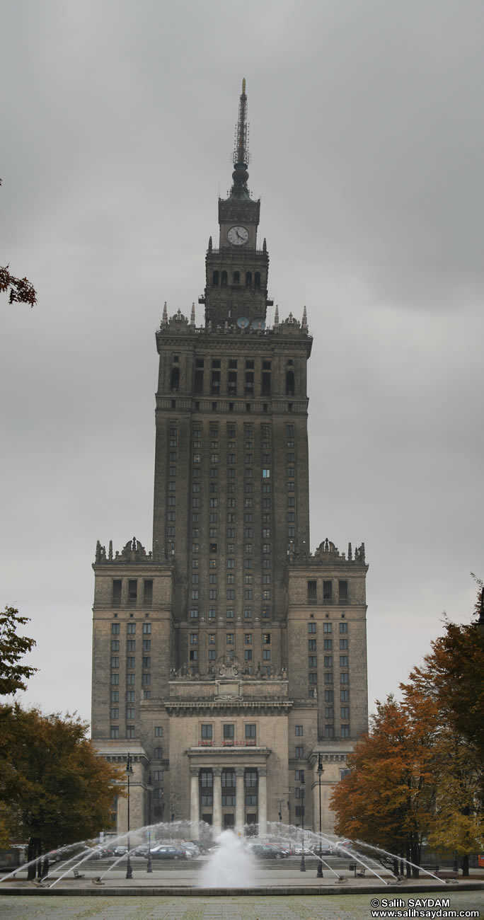 Palace of Culture and Science Vertical Panorama (Warsaw, Poland)