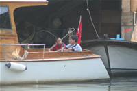 Childs on Boat Photo Gallery (Istanbul, Anadolu Hisari)